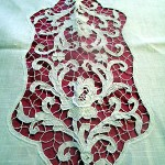 """I made this tablecloth embroidery. I was 11 when I started to do embroidery in my village in Italy. We learnt with a nun who specialised in this work, which is called Burano lace. The nun told us [it] was once more expensive than gold. Just one of these patterns on this cloth would take about 20 days."""