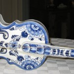 """My favourite Delftware piece is in the shape of a violin which I brought out when we migrated. It is a fine example of Delft and beautifully made. [It] is well loved and creates memories of Holland."""