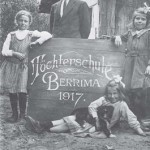 Principal of the Berrima Girls School, Dierke Voss with students Hanna Hurtzig, Carmen Machotka and her sister Eva 1917. AWM H12155