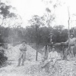 Miners at Lightning Ridge c.1910. Lightning Ridge Historical Society