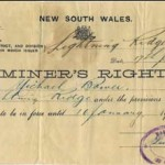 Miner's Right 1924. Lightning Ridge Historical Society
