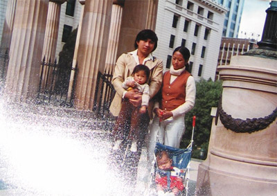 Phiny & Bunheang with their two young daughters, Brisbane, Australia, 1980