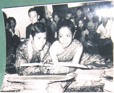 Phiny's eldest brother's wedding, Phnom Penh, Cambodia, January 1975