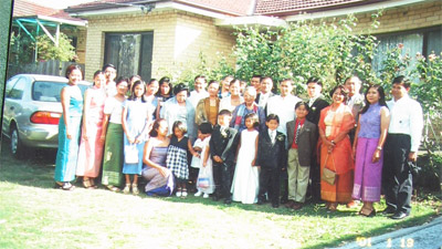 Phiny's youngest brother's wedding, Melbourne, Australia 2001