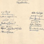 Gotthard Barnes' goodbye card signed by fellow inmates of Hay Camp