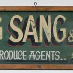 Wing Sang & Co sign, c.1935, Photograph Marinco Kojdanovski, Courtesy Collection: Powerhouse Museum, Sydney. Wing Sang & Co bought and sold fruit and vegetables in Sydney's markets, specialising as banana wholesalers. The company expanded rapidly and became the marketing agent, for fruit and vegetables produced by Chinese growers in northern NSW, Qld and the Pacific.