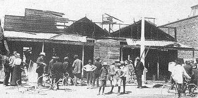 The German Club House in Broken Hill, NSW, was attacked in January 1915. The building had been unoccupied since the outbreak of war. Courtesy of the Broken Hill Historical Society