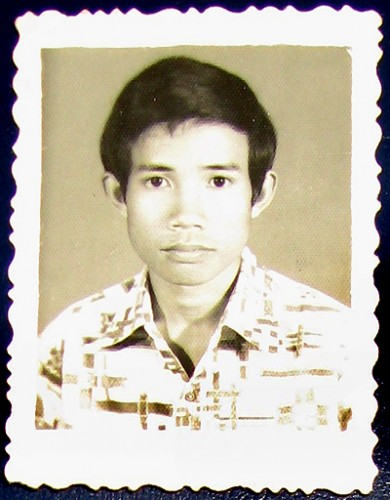 Theau Yorth as a university student, Phnom Penh, Cambodia, early 1970s