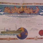 Equator certificate presented to passengers as they crossed the equator on the journey to Australia. C.1950s. Courtesy of the Museum of the Riverina