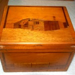 Wooden box containing glass plates, c.1915 – 1918. Dubotzki collection, Germany