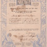 Lutheran Confirmation Certificate, 1863. Courtesy Museum of the Riverina