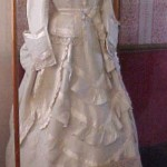Holbrook silk wedding gown, c.1874. Courtesy of the Museum of the Riverina