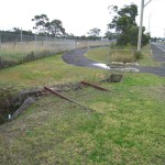 Remnants of the 1917 railway line built by the internees at Holsworthy, 2009. Photograph Stephen Thompson