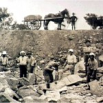 Holsworthy Internees working in the quarry, c.1916. Courtesy of the Liverpool Regional Museum