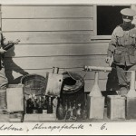 Illicit still for making alcohol made by the internees at Holsworthy c.1916. Dubotzki collection, Germany