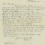 Internee's letter to relatives in South Australia, c.1916. Liverpool Regional Museum collection, Photograph Stephen Thompson