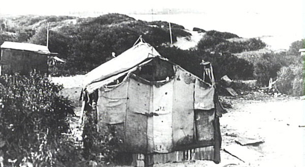 Unemployment Camp hut at Happy Valley c.1930s Courtesy State Library of NSW