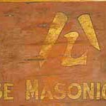 Masonic sign, Albury LibraryMuseum