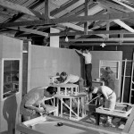 Carpentry lessons at Bathurst Migrant Camp 1951. Courtesy National Archives of Australia