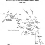 Map of Bathurst Migrant Camp c.1954. Courtesy Bathurst & District Historical Society
