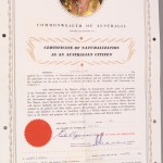 Australian Naturalisation Certificate, 1964. Powerhouse Museum Collection