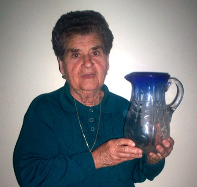 Rosina Rombola with her jug