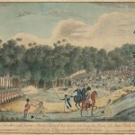 Convict uprising at Castle Hill watercolour 1804. Courtesy National Library of Australia