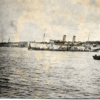 MV Kursk in Sydney Harbour prior to departure for Germany, c.1919 -1920. Paul Dubotzki Collection