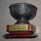 My mother always encouraged me to keep busy. I was actively involved in National Cadet Corps. This is a prestigious trophy for the best camp commandant. They see your management skills and leadership qualities. It brings back memories of [my] very active life as a child.