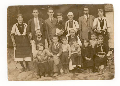Photo: Riste Belcev (second from left, back row), from Capari, Bitola