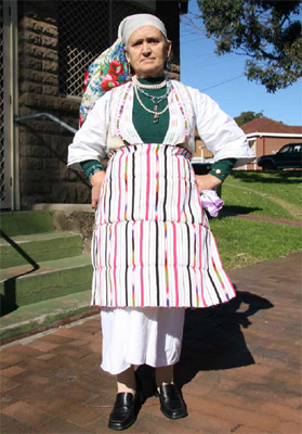 Photo: Ivanka Radiceska wearing traditional costume