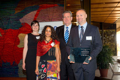 Building Inclusive Communities Award - MHC Team with Barry O'Farrel